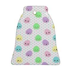 Egg Easter Smile Face Cute Babby Kids Dot Polka Rainbow Ornament (Bell)