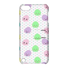 Egg Easter Smile Face Cute Babby Kids Dot Polka Rainbow Apple iPod Touch 5 Hardshell Case with Stand