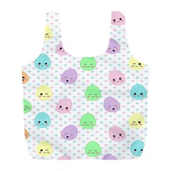 Egg Easter Smile Face Cute Babby Kids Dot Polka Rainbow Full Print Recycle Bags (L)