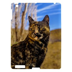 Adult Wild Cat Sitting and Watching Apple iPad 3/4 Hardshell Case