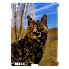 Adult Wild Cat Sitting and Watching Apple iPad 3/4 Hardshell Case (Compatible with Smart Cover)