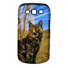 Adult Wild Cat Sitting and Watching Samsung Galaxy S III Classic Hardshell Case (PC+Silicone)