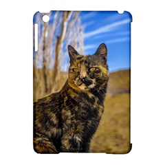 Adult Wild Cat Sitting and Watching Apple iPad Mini Hardshell Case (Compatible with Smart Cover)