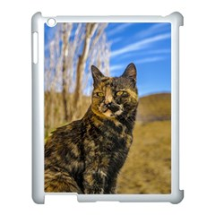 Adult Wild Cat Sitting and Watching Apple iPad 3/4 Case (White)