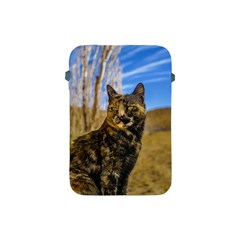 Adult Wild Cat Sitting and Watching Apple iPad Mini Protective Soft Cases