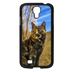 Adult Wild Cat Sitting And Watching Samsung Galaxy S4 I9500/ I9505 Case (black)