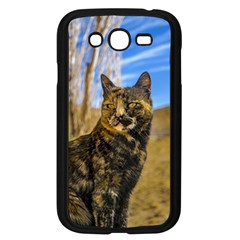 Adult Wild Cat Sitting and Watching Samsung Galaxy Grand DUOS I9082 Case (Black)