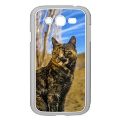 Adult Wild Cat Sitting and Watching Samsung Galaxy Grand DUOS I9082 Case (White)