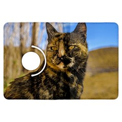Adult Wild Cat Sitting and Watching Kindle Fire HDX Flip 360 Case