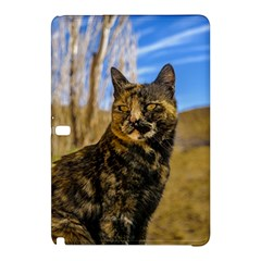 Adult Wild Cat Sitting and Watching Samsung Galaxy Tab Pro 12.2 Hardshell Case