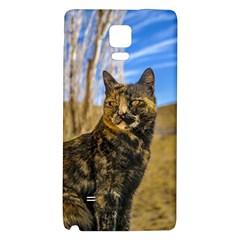 Adult Wild Cat Sitting and Watching Galaxy Note 4 Back Case