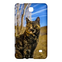 Adult Wild Cat Sitting and Watching Samsung Galaxy Tab 4 (7 ) Hardshell Case