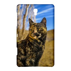 Adult Wild Cat Sitting and Watching Samsung Galaxy Tab S (8.4 ) Hardshell Case