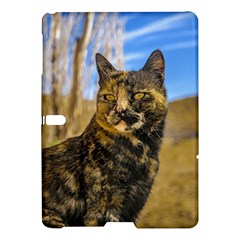 Adult Wild Cat Sitting and Watching Samsung Galaxy Tab S (10.5 ) Hardshell Case