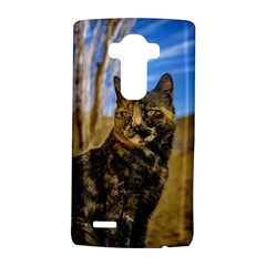 Adult Wild Cat Sitting and Watching LG G4 Hardshell Case