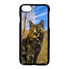 Adult Wild Cat Sitting And Watching Apple Iphone 7 Seamless Case (black)