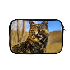 Adult Wild Cat Sitting And Watching Apple Macbook Pro 13  Zipper Case