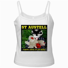St Austell, Furring Capital of the World White Spaghetti Tank