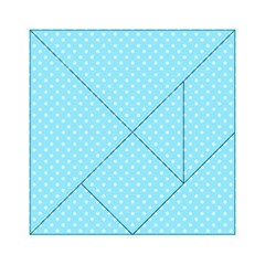 Dots Acrylic Tangram Puzzle (6  x 6 )