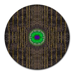 In The Stars And Pearls Is A Flower Round Mousepads
