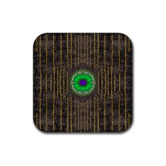 In The Stars And Pearls Is A Flower Rubber Square Coaster (4 pack)