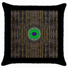 In The Stars And Pearls Is A Flower Throw Pillow Case (Black)