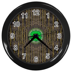 In The Stars And Pearls Is A Flower Wall Clocks (Black)
