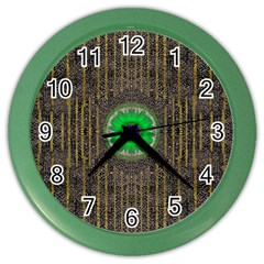 In The Stars And Pearls Is A Flower Color Wall Clocks