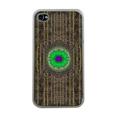In The Stars And Pearls Is A Flower Apple iPhone 4 Case (Clear)