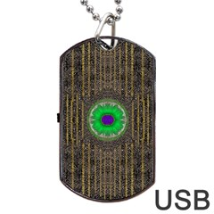 In The Stars And Pearls Is A Flower Dog Tag USB Flash (One Side)