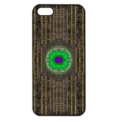 In The Stars And Pearls Is A Flower Apple iPhone 5 Seamless Case (Black)