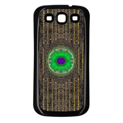In The Stars And Pearls Is A Flower Samsung Galaxy S3 Back Case (Black)