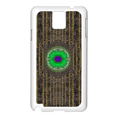 In The Stars And Pearls Is A Flower Samsung Galaxy Note 3 N9005 Case (White)