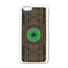 In The Stars And Pearls Is A Flower Apple iPhone 6/6S White Enamel Case
