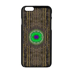 In The Stars And Pearls Is A Flower Apple iPhone 6/6S Black Enamel Case