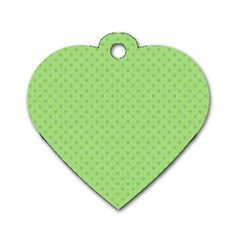 Dots Dog Tag Heart (One Side)