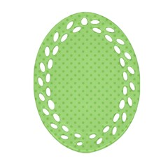Dots Oval Filigree Ornament (Two Sides)