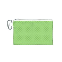 Dots Canvas Cosmetic Bag (S)
