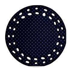 Dots Round Filigree Ornament (Two Sides)