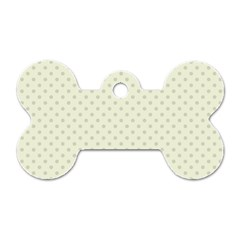 Dots Dog Tag Bone (One Side)