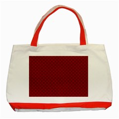 Dots Classic Tote Bag (Red)