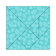 Floral pattern Acrylic Tangram Puzzle (6  x 6 )