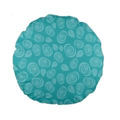 Floral pattern Standard 15  Premium Round Cushions