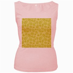 Floral pattern Women s Pink Tank Top