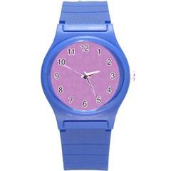 Floral pattern Round Plastic Sport Watch (S)