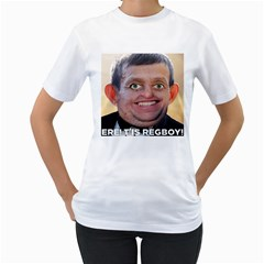 Ere! T is Regboy! Women s T-Shirt (White) (Two Sided)