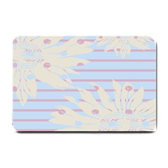 Flower Floral Sunflower Line Horizontal Pink White Blue Small Doormat