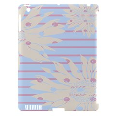 Flower Floral Sunflower Line Horizontal Pink White Blue Apple iPad 3/4 Hardshell Case (Compatible with Smart Cover)