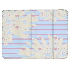 Flower Floral Sunflower Line Horizontal Pink White Blue Samsung Galaxy Tab 7  P1000 Flip Case
