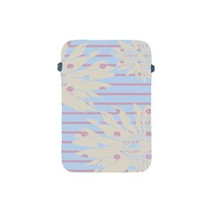 Flower Floral Sunflower Line Horizontal Pink White Blue Apple iPad Mini Protective Soft Cases